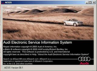 Audi Electronic Service Information System Version 06-1 (AESIS 2005)